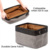 Household High Quality Big Rectangular Collapsible Organizer Bin Carry Handles Fabric Linens Storage Box