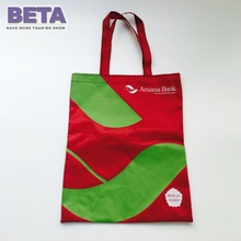 BETA Wine Red Polyester Oxford 420D Draw Shopping Bag With Handle Promotional Customized Logo