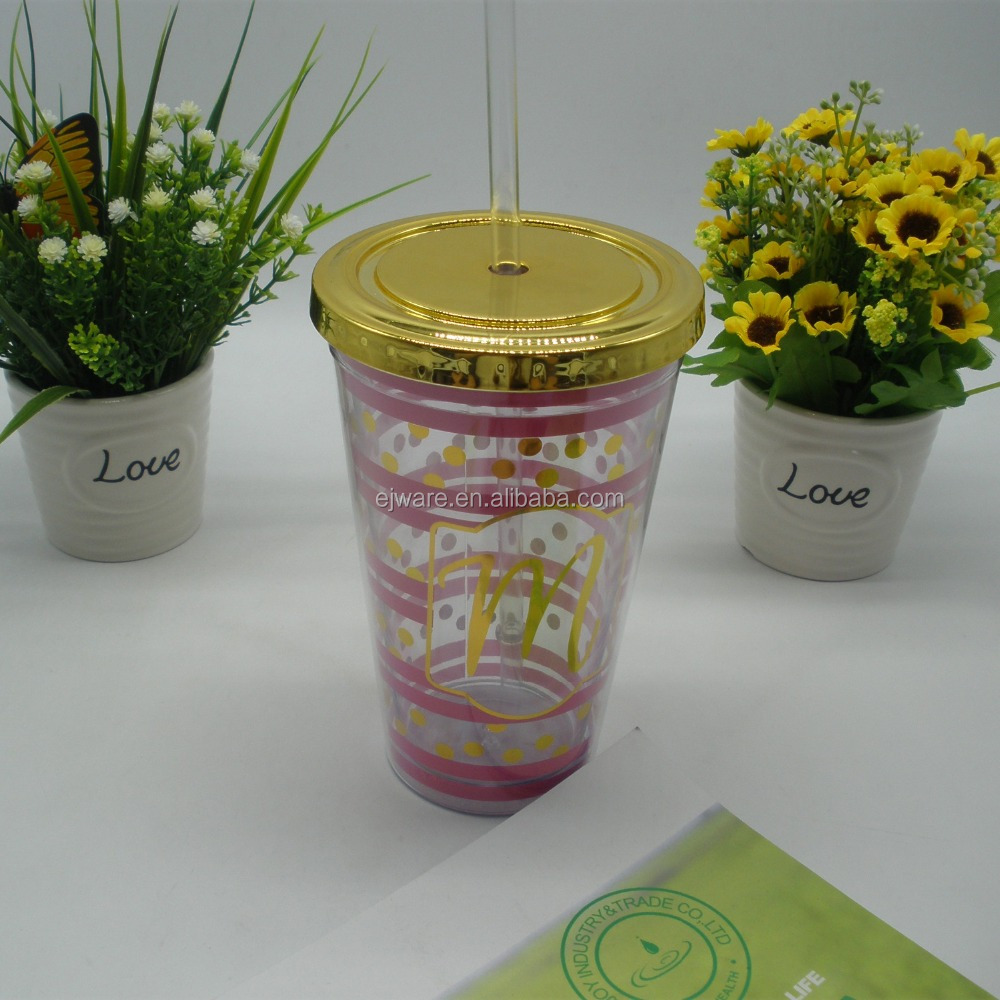 Hot selling FDA approved plastic double wall drinking cup coffee mug 550ml tumbler with lid and drinking straw with logo