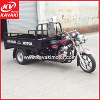 Large capacity dumper clear petrol 3 wheel motorcycle with strong rear axle