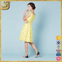 OEM factory price plus size striped high quality mini dress with contrast cuffs women clothing manufacture supplier
