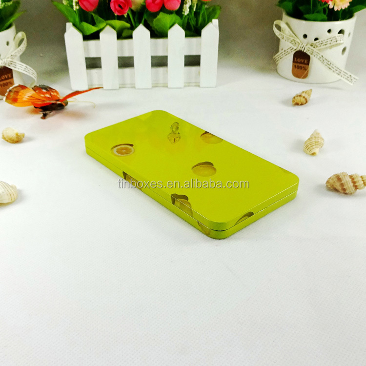 Promotional cheap rectangular tin can for phone case