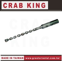 CRAB KING Hand Tools Four Grooves Two Flutes Cement Drill Bits