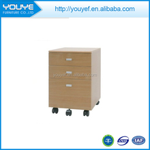 Modern cheap wooden 3 drawer storage cabinet with wheels for sale