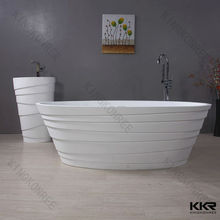 Oval Shape Baths/very small size bathtub/crushed marble stone/ solid surface stone bathtub