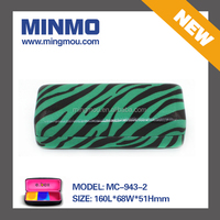 Green zebra stripe eye glass case, custom original design double glasses case, reading glasses with case