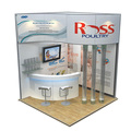 Detian Offer portable 3x3 expo stand trade show display system booth equipment