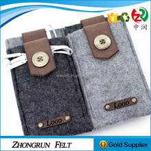 2017 wholesale high quality wool mobile phone case new style felt phone cover