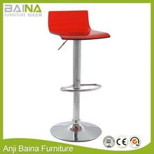 Crystal bar stool with acrylic seat