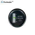 Runleader 12V 24V 36V 48V Lead-acid Lithium Battery Capacity Indicator Digital Volt Meter