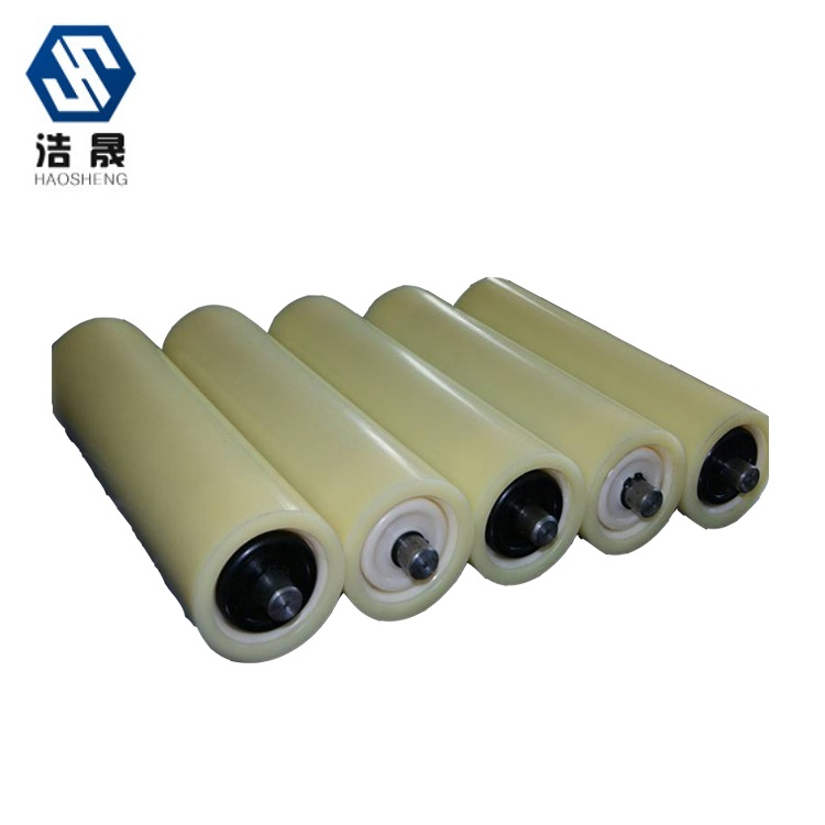 Supports customized hot sale plastic low friction coefficient corrosion-resistance Industrial Nylon <strong>rollers</strong> for conveying