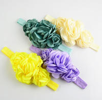 Latest Burned Satin Flower Headband For Kids,Top Stretch Headband For Girls