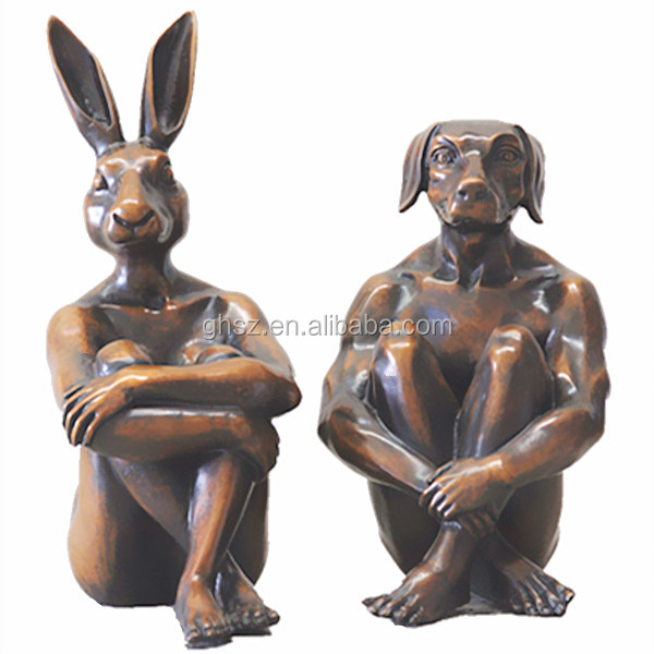 decoration animal head rabbit head sculpture