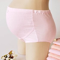 YF19 Cotton cotton big yards adjustable waist shorts care abdomen of pregnant women underwear pregnant Spot Maternity Clothing