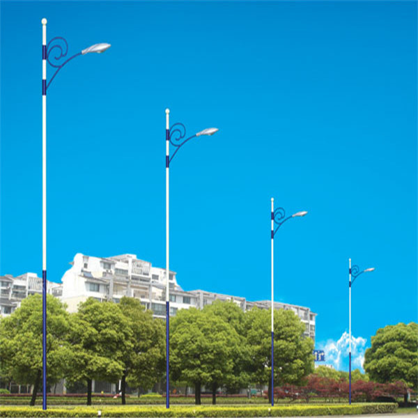 3m 6m 12m decorative solar street lighting poles/led street light pole price for football stadiums and garden