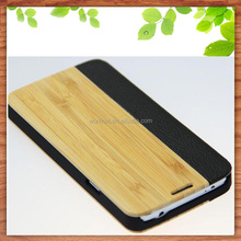 factory wholesale bamboo leather cell phone flip case for samsung galaxy S5,for Samsung Galaxy S5 wood case