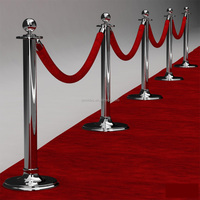 Red Carpet Deluxe Rope Stanchion,used crowd control barriers