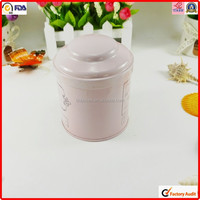 FDA SGS round tea tin custom