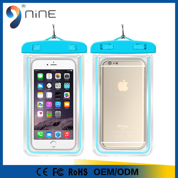 Mobile Phone Waterproof Bag Universal Case Cover Bag For Cellphone Accept Custom Logo