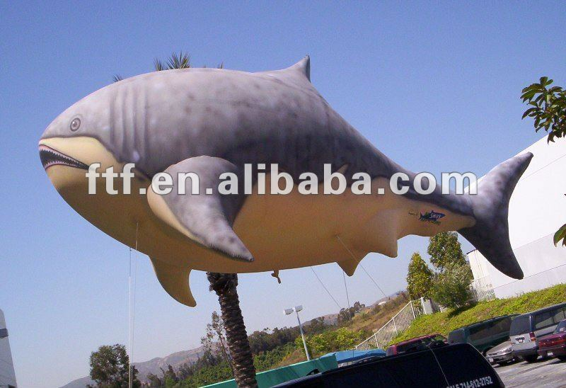 Interesting helium shark replica