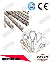 Rigging Hardware galvanized steel wire rope lifting slings