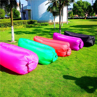 Favorable price Cheap Inflatable Outdoor Lazy Sofa / Bed/ Air Filled Furniture Hangout Lounge Sleeping Air and laybag lounge