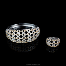 hot products cheap wholesale glass stone ring bangles with 18k Gold Plated