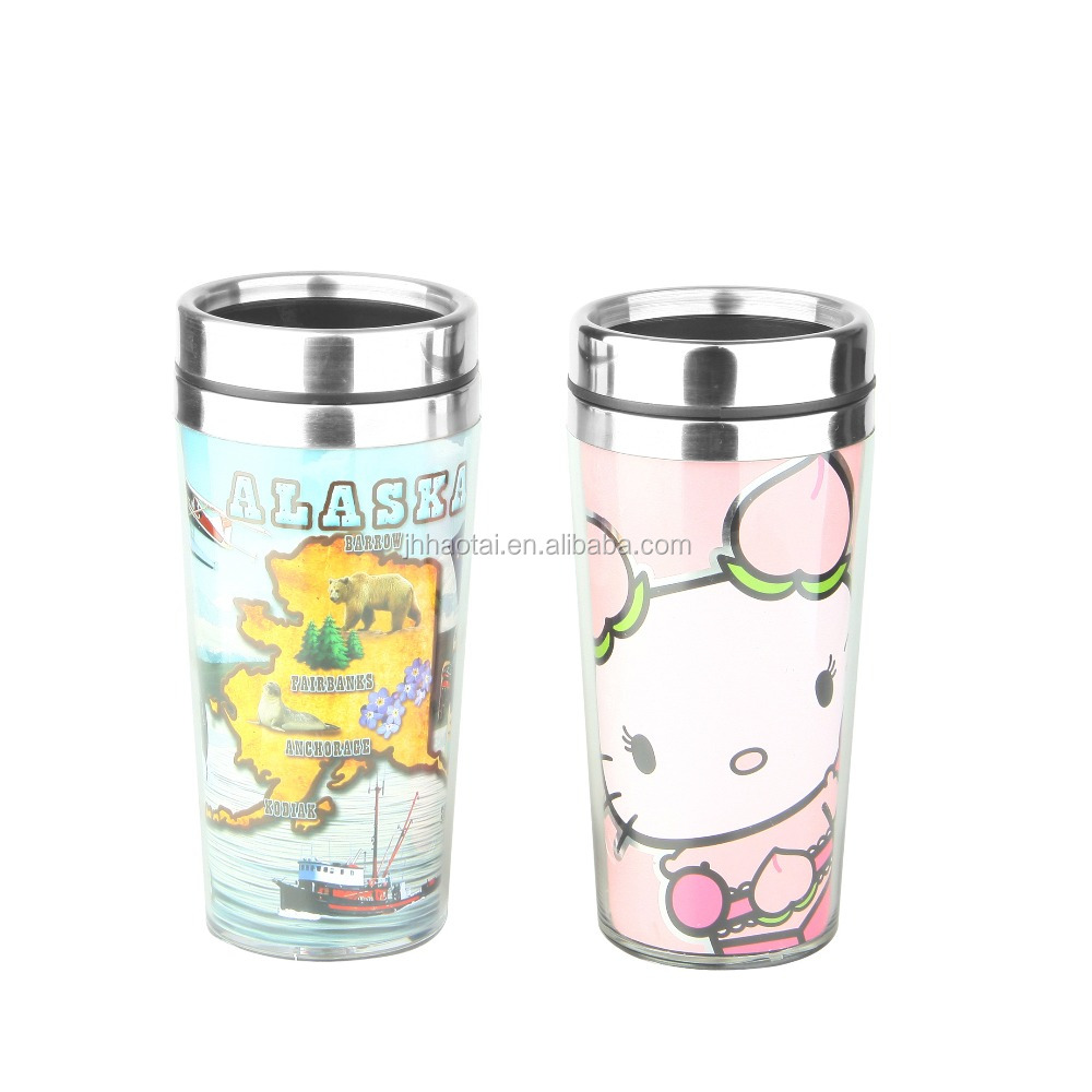 2017 best selling plastic travel coffee mug,hello kitty