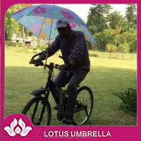 Advertising windproof bike umbrella