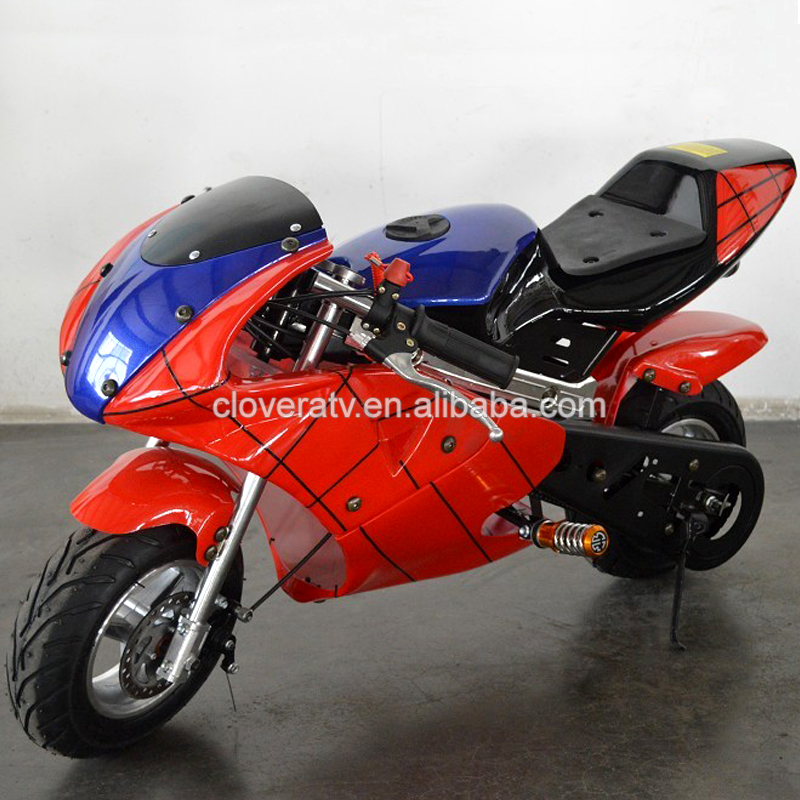 Spider type Powerful Mini Kids Motorcycle 50CC Pocket Bike for Sale