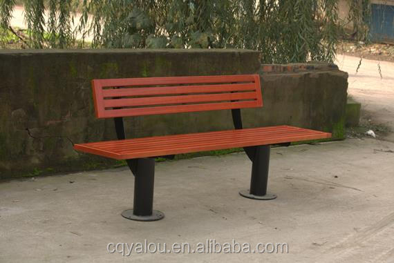 Plastic marble outdoor bench with back made in China