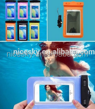 Mobile Phone Waterproof Bag Case for iPhone 5 5s SE 5c 6 6s Plus Underwater Water Proof cover for Samsung S6 S7 edge Note 5