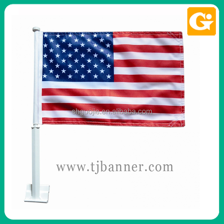 Wholesale custom polyester plastic pole car window flag