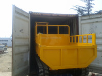 China cheaper price crawler trailer dump
