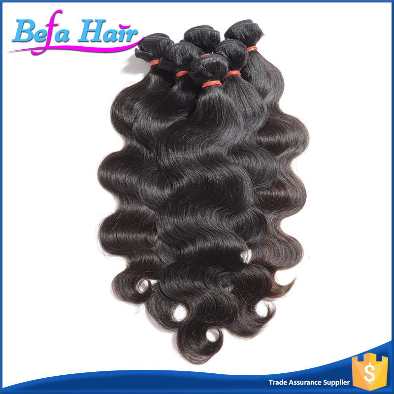 Befa Hair Hot Selling Unprocessed Body Wave 100 Percent Indian Remy Human Hair
