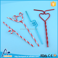 2015 New arrival plastic PVC decorative artificial straw for bar drinking