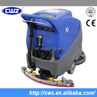 Full automatic floor scrubber with water tank for supermarket