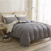 China factory solid dye microfiber 3pcs duvet cover set, bed linen