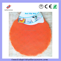 H806-32-1 2pcs Quilted Round Table Dinner Mat 32CM