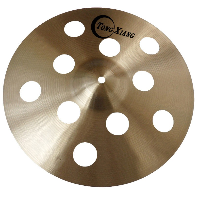 "Effect cymbal Ozone cymbal 10 hole handmade 16"" drum cymbals"