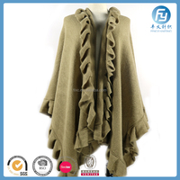 2017 Hot Selling Knit Ruffle Pattern