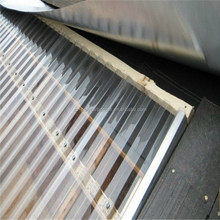 UV resistance Polycarbonate corrugated sheet for roofing skylight greenhouse dividers Separator