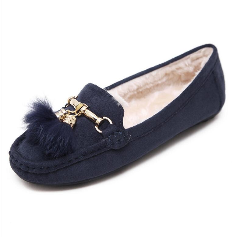 Hot selling winter new fashion style ladies flat shoes soft sole comfortable new design flat shoes