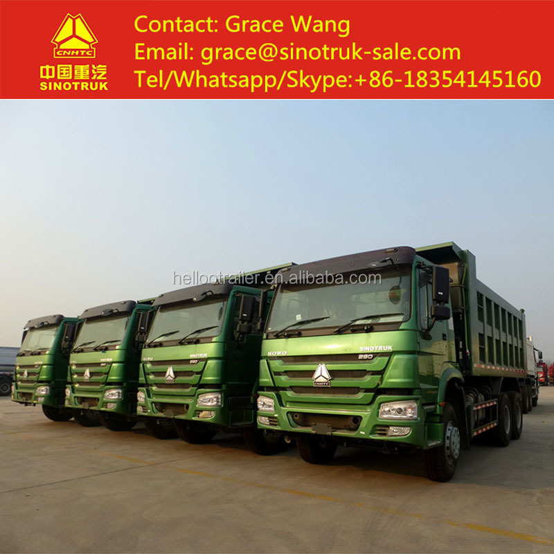 China Export SINOTRUCK HOWO 6X4 Used 20 Cubic Meters Dump Truck