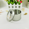 New style with clear PVC window metal round tin watch box