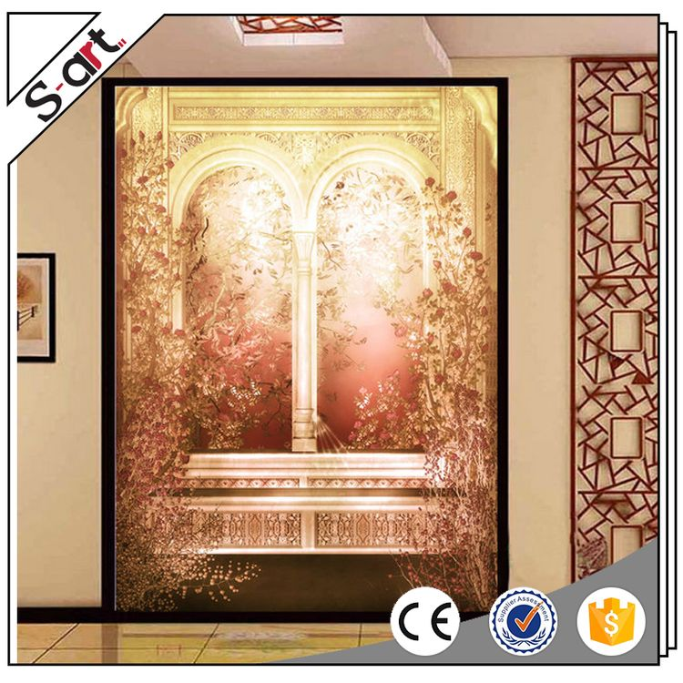 Premium quality first choice oil painting 3d flower wall mural