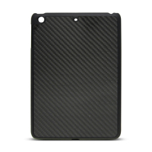 Carbon Fiber Back Cover For iPad Mini3, For iPad Mini 3 / 2 Black Glossy Carbon Fiber Phone Case