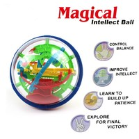 New 100 Steps 929A Magical Intellect Ball Kid Toy Small Magic Puzzle Ball Marble Puzzle Game