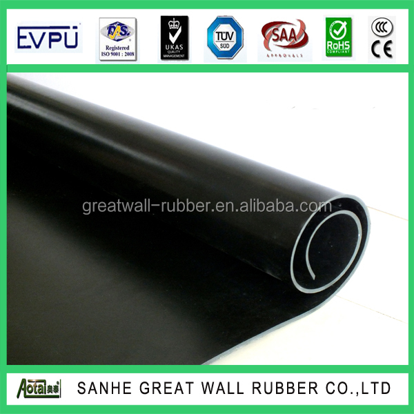 Commercial Quality Neoprene Hypalon Rubber Sheet CSM Rubber Sheets CSPE Sheeting