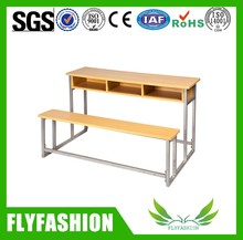Best selling cheap student double desk and chair used for sale/school furniture used for sale SF-39D